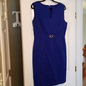 Tahari royal blue sheath dress